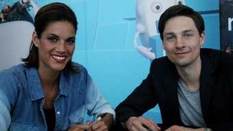 Missy Peregrym and Gregory Smith on a visit to Calgary to meet fans.